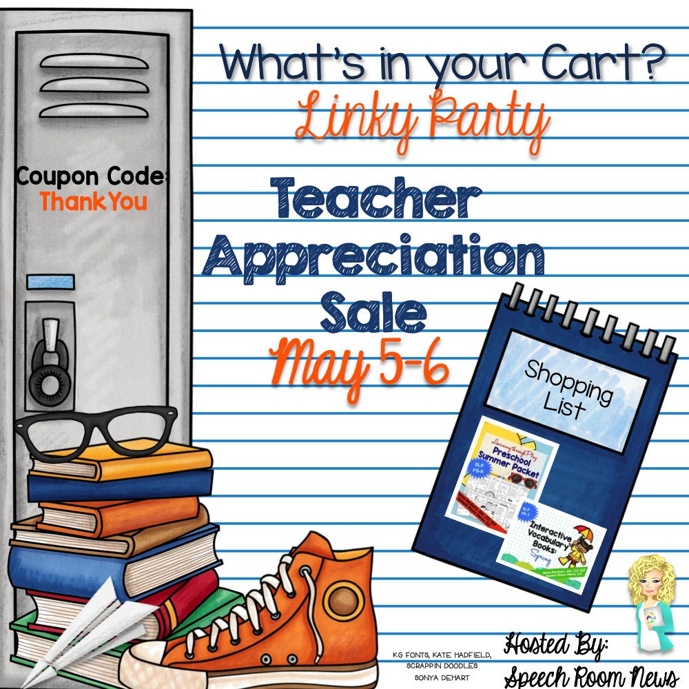 Teacher Appreciation Sale: What's in Your Cart {Linky!}