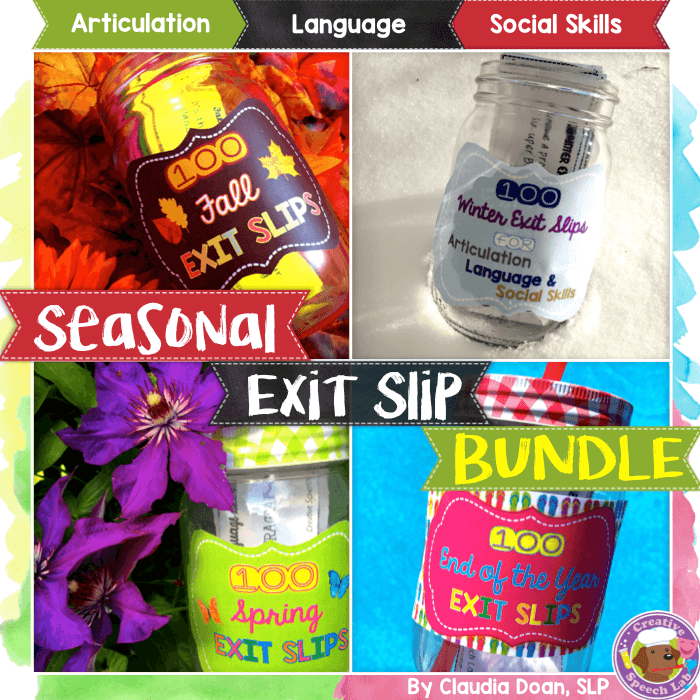 Seasonal Exit Slip Bundle Cover