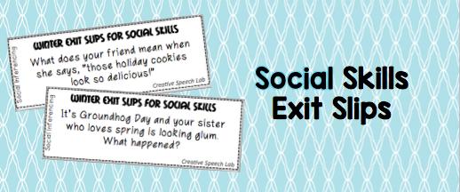 Social Skills Exit Slips