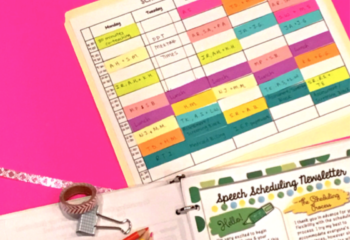 Speech Therapy Scheduling Survival Pack