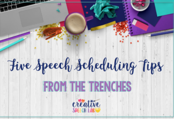 5 Speech Scheduling Tips from the Trenches