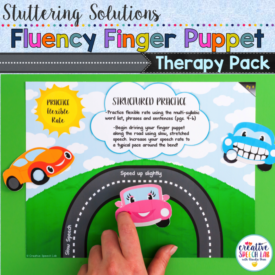 Updated Stuttering Solutions: Fluency Flipbook & Finger Puppet Therapy Pack