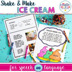 Updated Shake & Make Ice Cream for Speech and Language