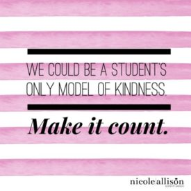 The Kindness Project: Make it Count {Nicole Allison}