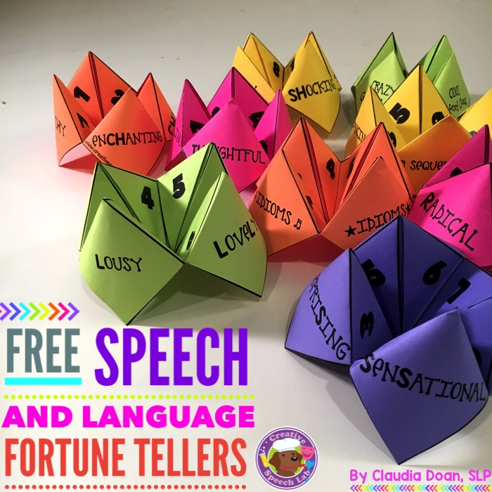FREE Speech Fortune Tellers, Tips and Materials!